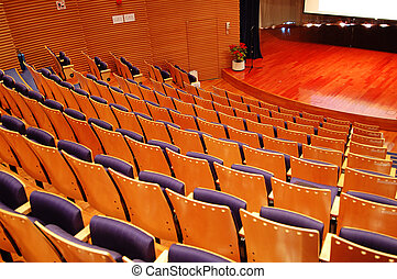 The theater stage - The interior of a theater, the seats and...