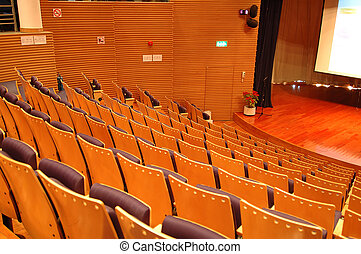 The theater seats - The interior of a theater, the seats and...