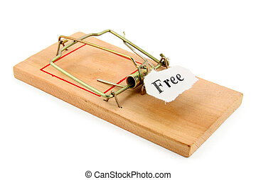 business trap - free sign and Mousetrap, concept of business...