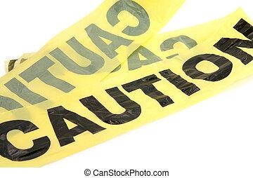 plastic caution tape