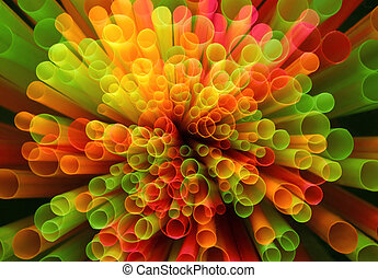 Straws - Colorful straws Anstract background