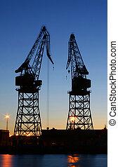 Shipyard - Helsinki shipyard at dusk