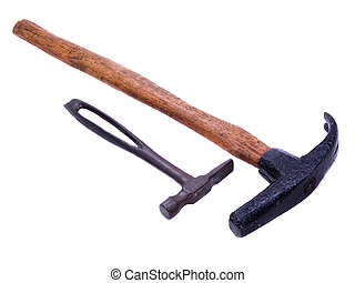 Antique Cobbler\\\'s Hammers - Pair of hand forged antique...