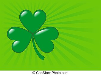 Shamrock - 2 - An illustration of a shamrock, symbol of...
