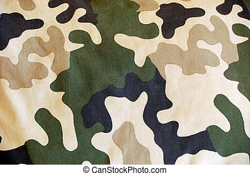 camouflage texture - close-up of army colours