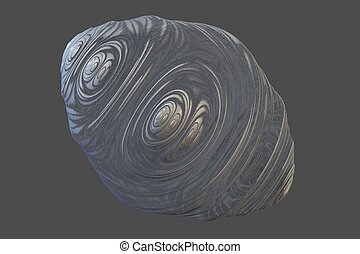 Pewter Easter Egg - A 3D Fractal Rendering Suggests a Pewter...