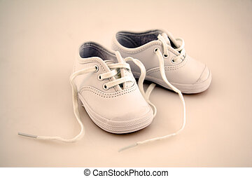 Little Baby Shoes Isolated on a Background