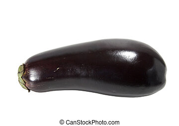 Whole egg plant isolated against white background