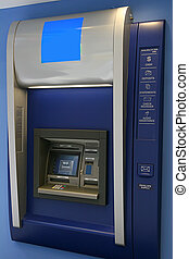 ATM - Modern indoor automatic teller machine at a bank