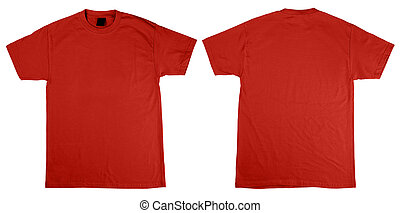 T-Shirt front and back - Red orange T-Shirts front and back...