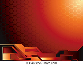 honey data - An abstract honey comb background with a...