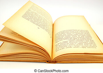 vintage book 6 - on white background