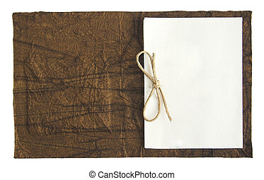Note book - Open note book isolated in a white background