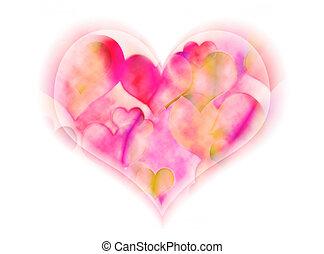 Soft Heart - A soft heart is overflowing with smaller hearts