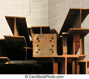 Large Steel Girders - -- in preparation for a major...