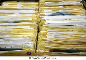 Dental Records Landscape - Dental Records in Filing Cabinet...