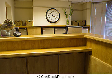 Reception at clinic, office or  hotel