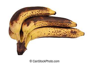 Hand of overripe bananas - Hand of overripe and decaying...