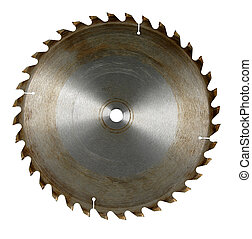 Circular Saw Blade - Circular saw blade isolated over white...