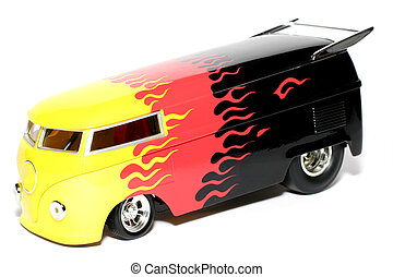 Customized Drag Bus - Picture of a classic German Customized...