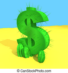 Dollar Cactus - Computer generated image - Dollar Cactus.