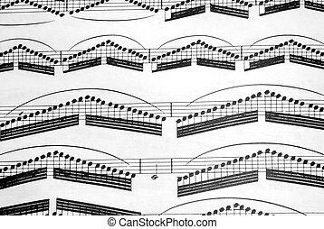 Sheet Music - Classical sheet music against a white...