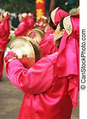 nouveau, musique,  célébrations, chinois, année