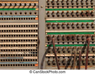Old Telephone Switchboard - -- with jacks and sockets to...
