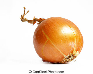 Onion isolated on white background - goldish onion isolated...