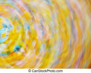 multi-colored abstraction in yellow hue - multi-colored...