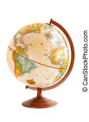 Globe - Old fashioned globe isolated on white background