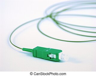 optical fiber patch cord on a white background
