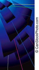 lazer flap electric blue