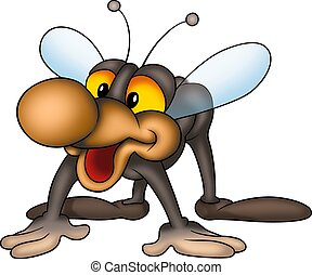 Smiling little fly - Little fly 02 - High detailed and...