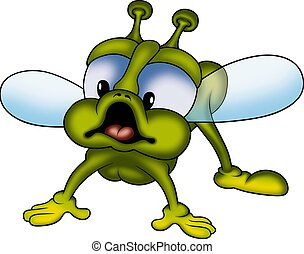 Green fly - Little fly 06 - High detailed and coloured...