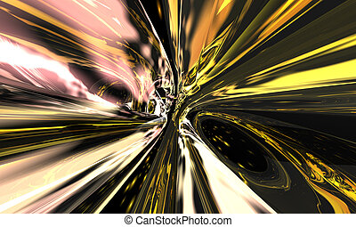 space fire - warp illustration with flame and smeared lines