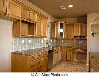 new kitchen - brand new empty kitchen waits for its new...