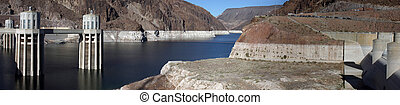 Hoover Dam Panorama - Hoover Dam Lake Meade Panorama