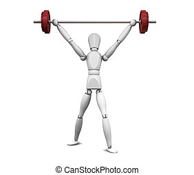 Weightlifter - 3D render of a weightlifter