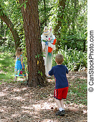 Easter Bunny Hide & Seek - The Easter Bunny playing hide and...