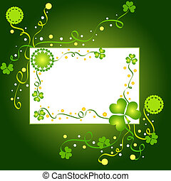 Shamrocks frame with white space