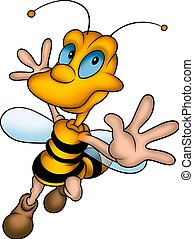 Happy wasp - Little Bee 13 - High detailed and coloured...