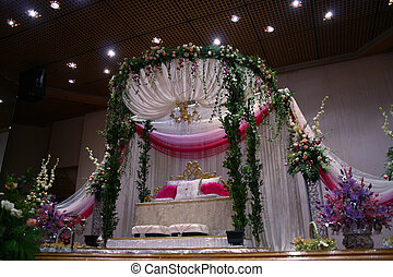 Ceremonial Dias - Malay traditional wedding where the bride...