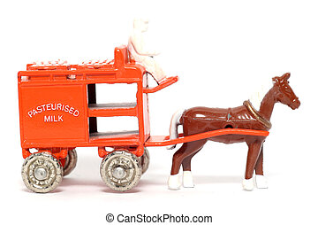 Old toy Horse Drawn