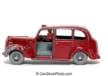 Old toy London Taxi - Picture of a old small Metropolitan...