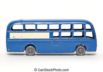 Old toy car Coach - Picture of a old small Coach British...