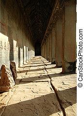 Corridor in Angkor Wat, Siem Reap, Cambodia