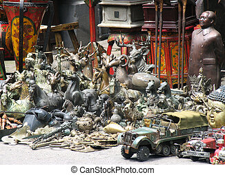 Flea Market in Shanghai, China,