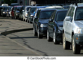 Downtime - Traffic jam in Moscow in the summer