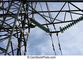 Electricity mast - Detail of Electricity mast before a...